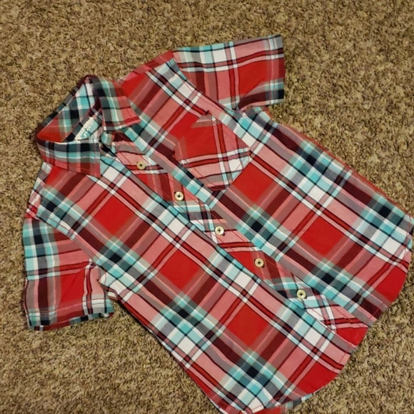Arizona Jean Company Other - 4/$20 boys plaid button up